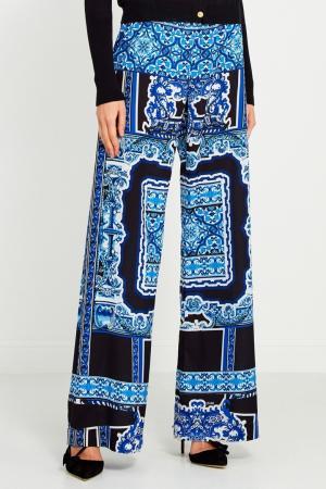 Синие брюки с принтом Hale Bob. Цвет: синий