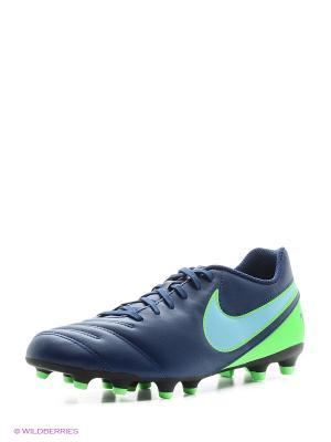 Бутсы TIEMPO RIO III FG Nike. Цвет: синий