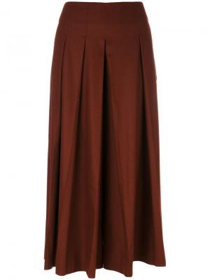 Драпированные брюки свободного кроя Fabiana Filippi. Цвет: красный