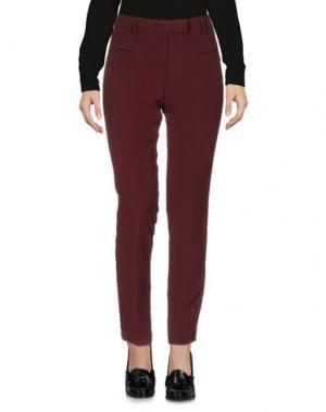 Повседневные брюки SIMONA MARTINI. Цвет: красно-коричневый