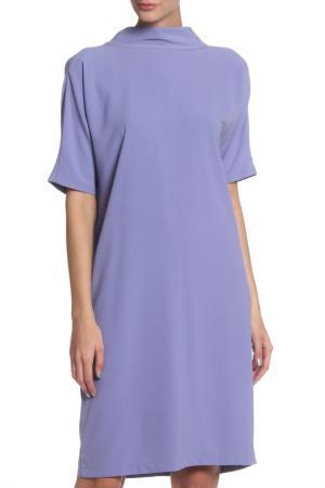 Полуприлегающее платье с высоким воротом Cyrille Gassiline. Цвет: лавандовый