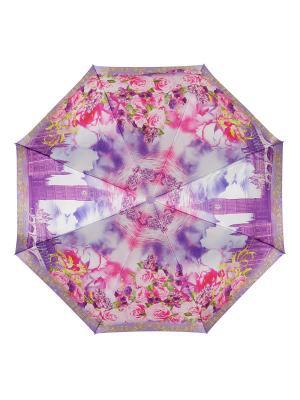 Зонт DINIYA. Цвет: индиго, фуксия