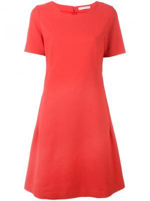 A-образное платье Fabiana Filippi. Цвет: красный