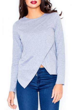 Блуза Figl. Цвет: серый