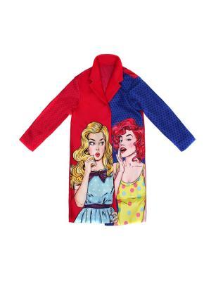 Пальто Stilnyashka. Цвет: синий, красный