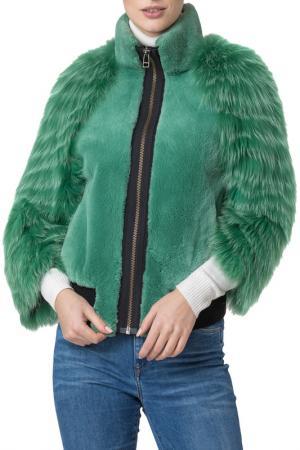 Шуба Mondial. Цвет: зеленый