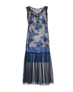 Платье длиной 3/4 PAOLO CASALINI. Цвет: темно-синий