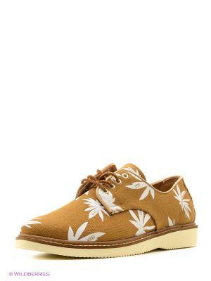 Туфли VANS. Цвет: коричневый
