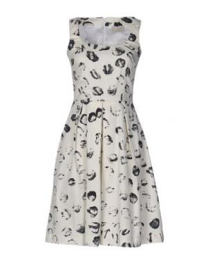 Короткое платье ROBERTA SCARPA. Цвет: слоновая кость
