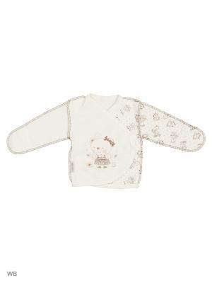 Распашонка-кимоно футер швы наружу Мишка Ивбэби. Цвет: коричневый, кремовый
