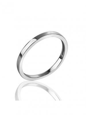 Модное тонкое фаланговое кольцо KU&KU. Цвет: серебристый
