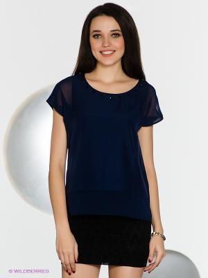 Блузка SELECTED. Цвет: темно-синий
