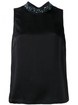 Блузка с отделкой на воротнике  LAutre Chose L'Autre. Цвет: чёрный