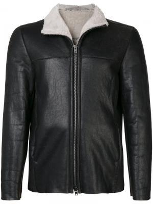 Куртка из овчины Salvatore Santoro. Цвет: чёрный