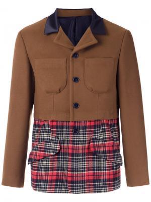 Пиджак с панельным дизайном À La Garçonne. Цвет: коричневый