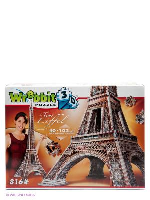 Пазл 3D Эйфелева башня, 816 шт. Wrebbit3D. Цвет: серый, терракотовый