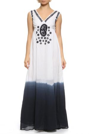 Платье TWIN-SET JEANS. Цвет: белый