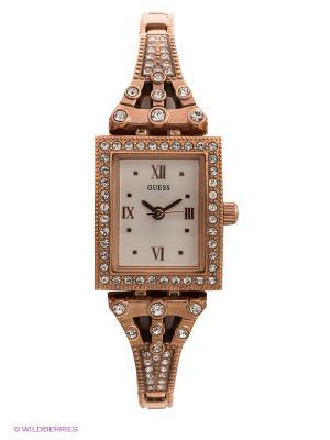 Часы GUESS. Цвет: золотистый, розовый