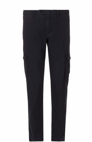 Хлопковые брюки карго Ermenegildo Zegna. Цвет: темно-синий