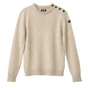 Пуловер крупной вязки SCHOTT. Цвет: серо-бежевый,синий морской