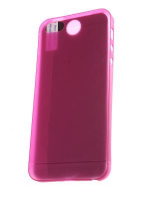 Накладка для iPhone 5/5S/SE (ультратонкая и прочная) + защитная пленка экрана Радужки. Цвет: розовый