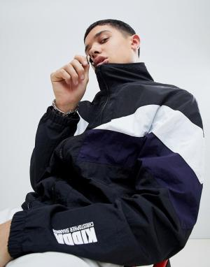 Christopher Shannon Черная ветровка с шевронными вставками Kidda By. Цвет: черный