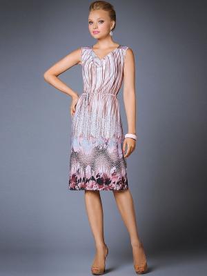 Платье Арт-Деко. Цвет: сиреневый