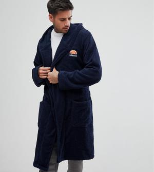 Ellesse Темно-синий халат с вышитым логотипом Lounge. Цвет: темно-синий