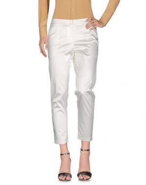 Повседневные брюки NINEMINUTES. Цвет: слоновая кость