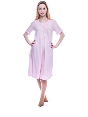 Сорочка NICOLETTA. Цвет: розовый