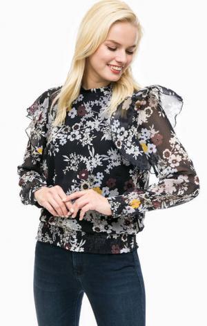 Блуза с цветочным принтом и подкладкой из вискозы MORE &. Цвет: цветочный принт