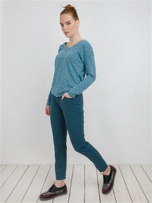 Пуловер MAYAMODA. Цвет: голубой, сиреневый