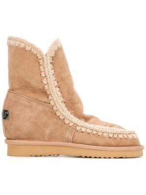 Ботинки Eskimo на потайной платформе Mou. Цвет: коричневый