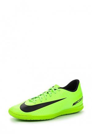 Бутсы зальные Nike. Цвет: зеленый