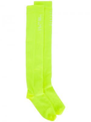 Носки с логотипом Unravel Project. Цвет: жёлтый и оранжевый