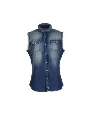 Джинсовая рубашка FIFTY FOUR. Цвет: синий