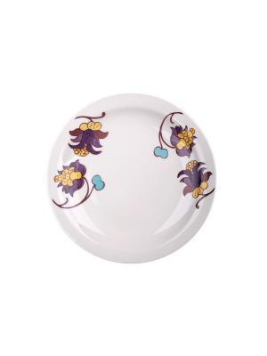 Набор тарелок десертных МИЛИ 20 см 6 шт Biona. Цвет: белый