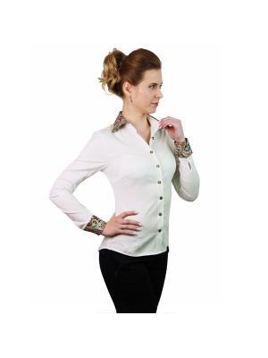 Рубашка женская манжет запонки/пуговицы WHITE CUFF. Цвет: кремовый