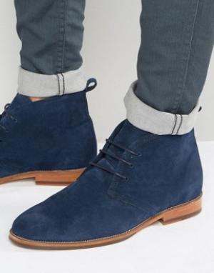 Bobbies Замшевые ботинки на шнуровке Le Monsieur. Цвет: темно-синий