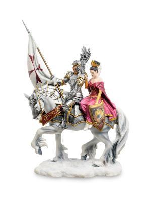 Статуэтка Рыцарь и его Дама сердца Veronese. Цвет: белый