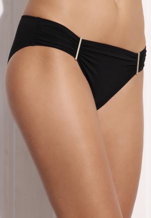 - Summer Solids Трусики бикини с золотистыми деталями черный Watercult