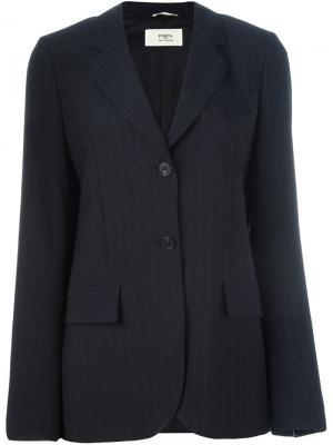 Пиджак в тонкую полоску Ports 1961. Цвет: синий