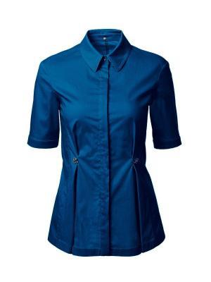 Блузка LO. Цвет: синий