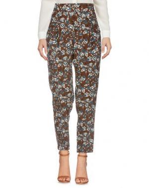 Повседневные брюки GARAGE NOUVEAU. Цвет: темно-коричневый