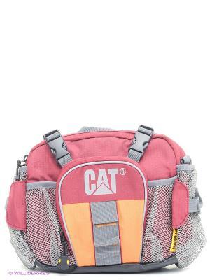 Сумка на пояс Caterpillar. Цвет: розовый, серый, оранжевый