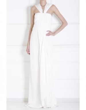 Шелковое платье J. Mendel. Цвет: белый