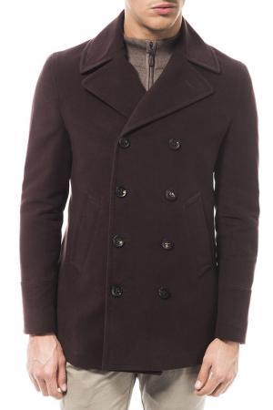 Пальто Trussardi. Цвет: коричневый