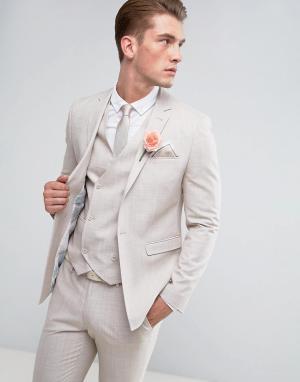 ASOS Желтовато-серый пиджак скинни с цветочным принтом на подкладке We. Цвет: серый