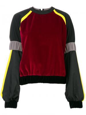 Colour blocked sweatshirt No Ka Oi Ka'. Цвет: чёрный