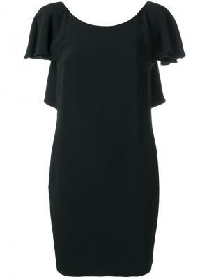 Платье с оборками и вырезом на спине Dondup. Цвет: чёрный